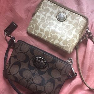 2 x Coach wristlet little bag VERY USED